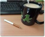 Kippe und Kaffee - wie zu alten Zeiten